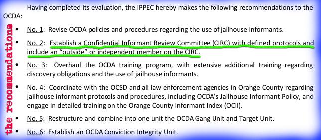 Independent Report on OC DA Scandal, Santa Clara's
